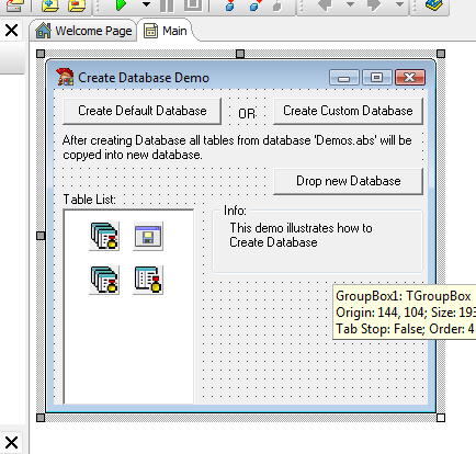 Create Database Delphi Example