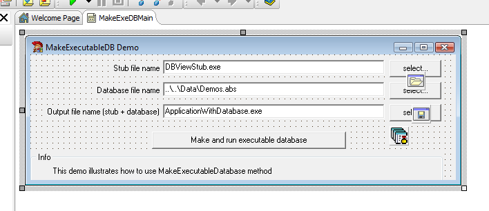 Make Executable Database Delphi Example