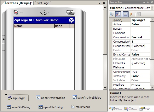 ZipForge.NET for Compact Framework